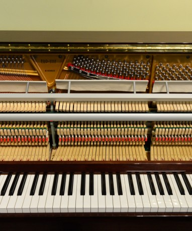 Inside an Upright Acoustic Piano
